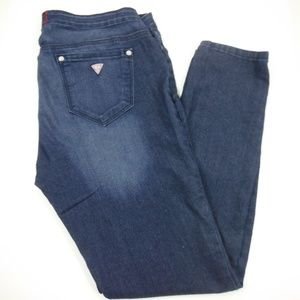 Guess Low Rise Pull On Lena Fit Denim Jeggings - L
